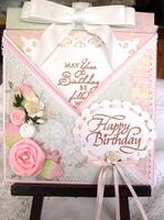 Criss-cross Birthday card