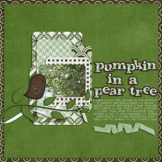 pumpkin in a pear tree