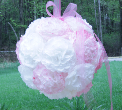 How To Make A Coffee Filter Flower Pomander Ball 0 comments