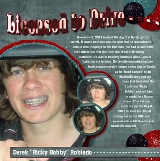 2012 - Derek Licensed to Drive