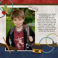 David's first day of school - 4th grade