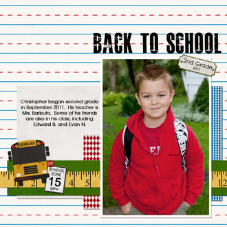 Christopher's First Day of School - 2nd Grade