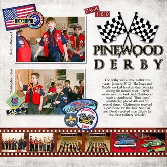 Pinewood Derby 2012