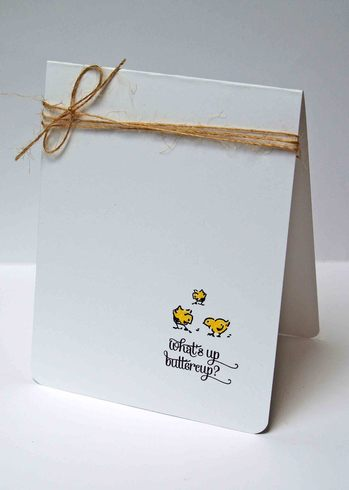 Lily Bee chickadee card by Laura Williams, for A Cherry On Top.com