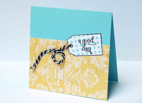 Lily Bee tag card by Laura Williams