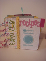 mini recipe album