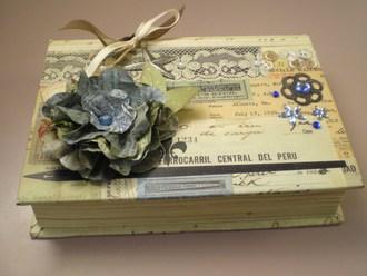 Treasure box altered book