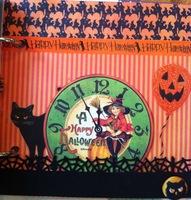 Martha Stewart Halloween and Graphic 45 Happy Haunting Chipboard Album page