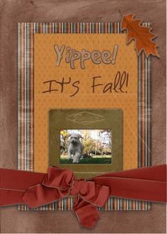 Yippee!  It's Fall!