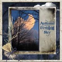 Autumn Evening Sky