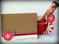 Snowflake craft tube and card
