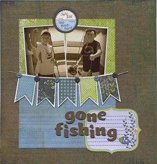 Gone Fishing (Jan 2013 Use Your Stash)