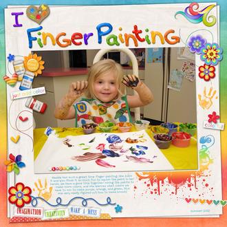 I Heart Finger Painting