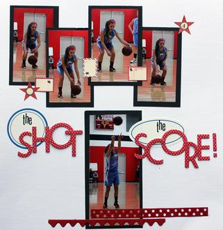 the shot; the score