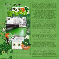 the river runs green