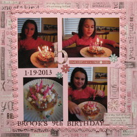 Brook's 9th Birthday