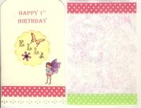 Fairy birthday tag