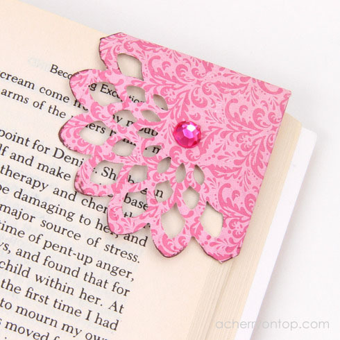 double sided bookmark template - create a corner bookmark a cherry on top
