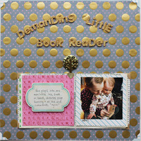 demanding little book reader *ScrapbookUpdate*