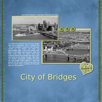 City of Bridges - my first attempt at digi