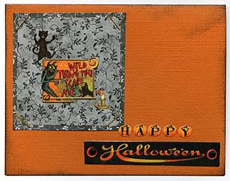 Wild Thing (Halloween card) (FastScrap 6)