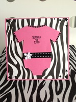 Zebra Print Baby Shower Card