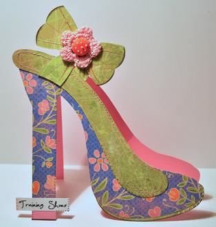 high heel shoe shaped card