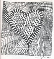 Zentangle - Heart