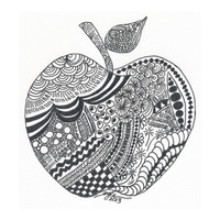 Zentangle:  Apple Art 1
