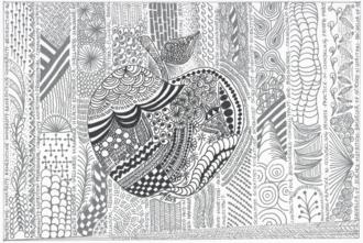 Zentangel:  Apple Art 1 Final Project