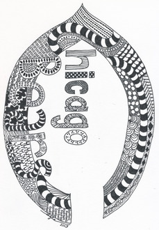Zentangle - Chicago Bears