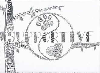 Zentangle - Doodle Art - Supportive