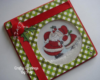 Mr and Mrs Clause shaker card