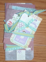 Christmas cards and tag - Purple set