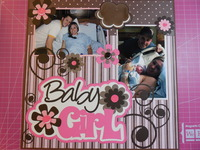 Baby's First Year Album - Baby Girl Page