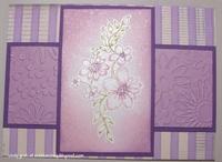 Violet Chalk Flowers