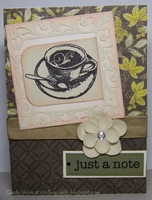 Deep Red Stamps Latte Note