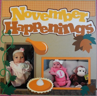 Baby's First Year Album - November Happenings