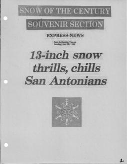 Snow 1985 in San Antonio