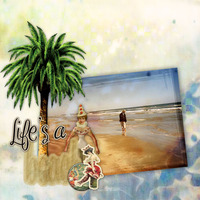 Life's A Beach---Art Doll Challenge