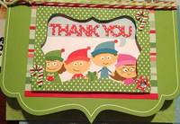 Christmas Elves Thank You Card