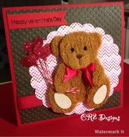 Baby valentine card