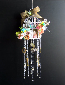 Love Bird Cage Wind Chime