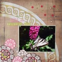 We Miss Our Butterfly Bush - April Technique