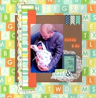 Daddy and Me (Scraplift With A Twist Challenge)