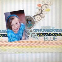 Pretty in Blue - April Washi Challenge