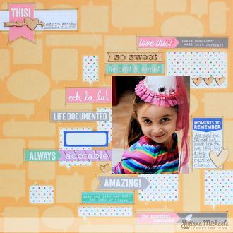Oh La La Scrapbook Page *Elle's Studio*