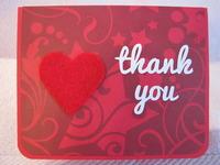 Felt Heart Thank You Card