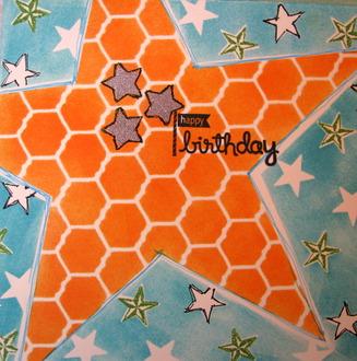 Star Birthday Card