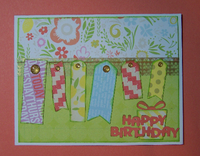 Happy Birthday tags card